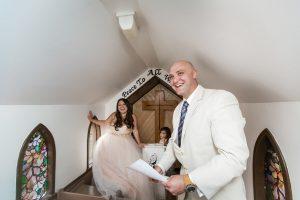 Drumheller little church wedding