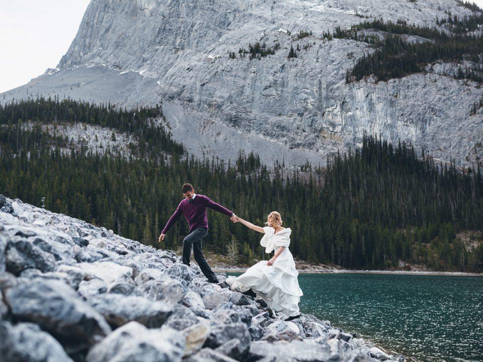 Nathalie Terekhova Calgary Wedding photographer Fine Art wedding photographer with over five years international magazines and publishing experience. Canmore Adventurous Wedding