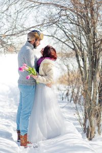 Nathalie Terekhova Wedding photographer Calgary fine art wedding photographer Winter creative session engagement