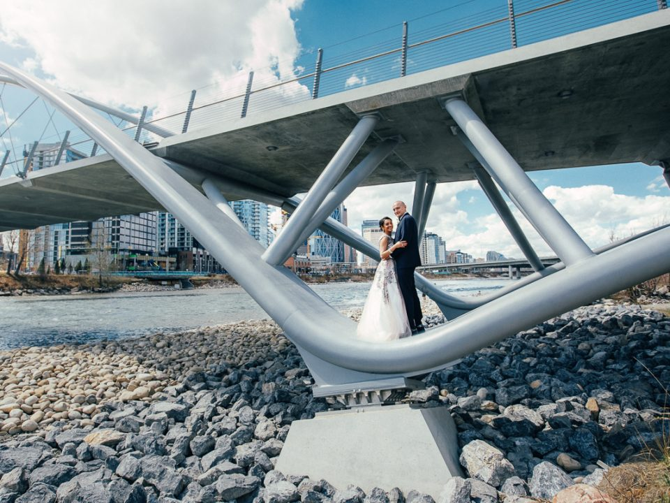 George C. King Bridge wedding photographer