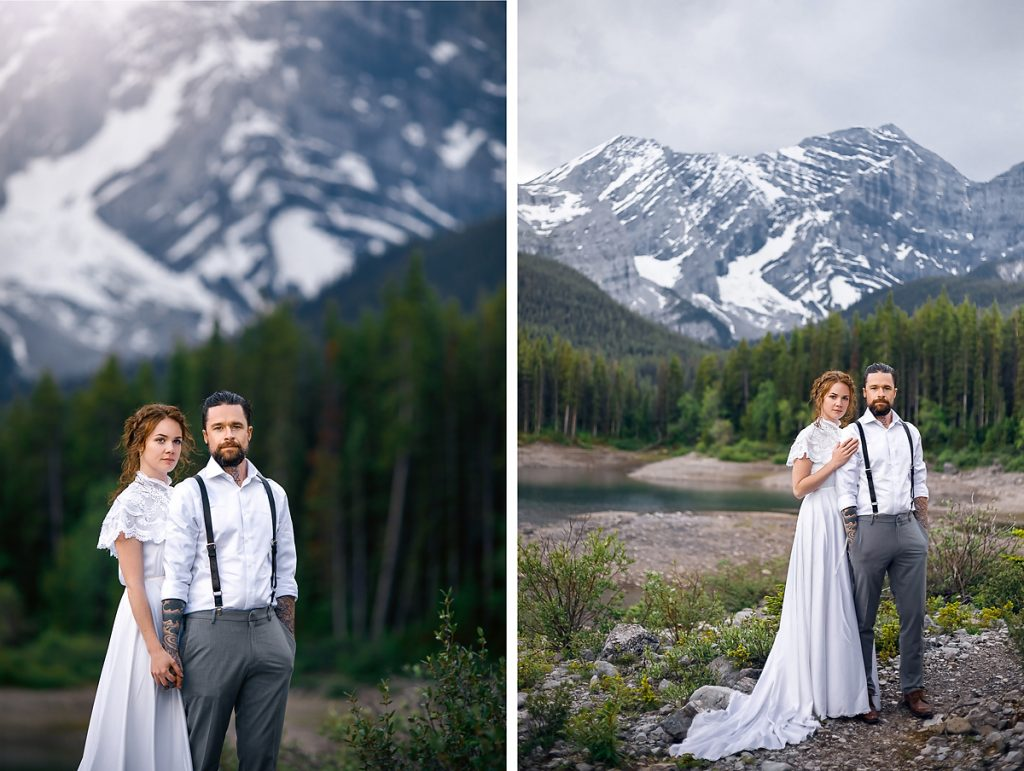 Kananaskis mountain wedding Alissa and Aaron